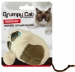 Grumpy cat annoying mouse met catnip